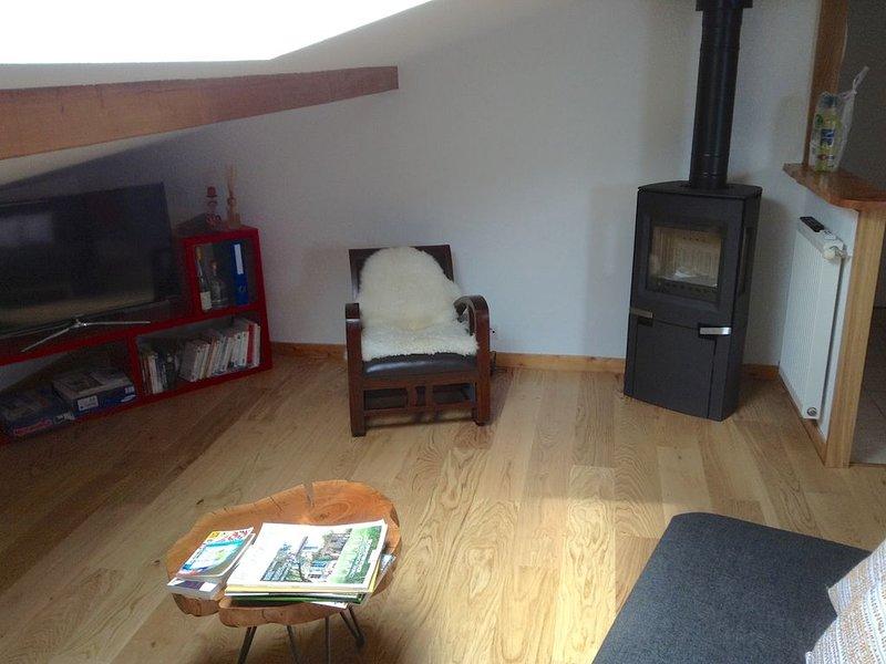 Appartement de charme face au Mont-Blanc., location de vacances à Cordon
