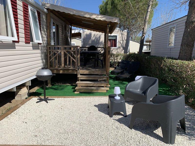 Mobilhome 1 Camping 4* La Carabasse 6/8 personnes, location de vacances à Vias