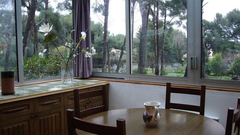 Villa  avec vue mer dans pinède, location de vacances à La Ciotat