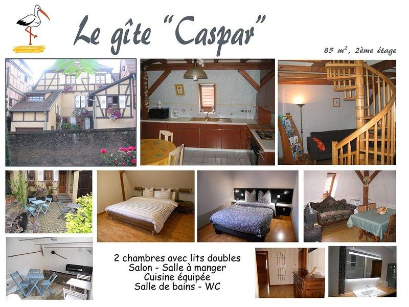 Le gîte 'Caspar', 2 à 4 personnes à Obernai, en plein coeur de l'Alsace, location de vacances à Bernardswiller