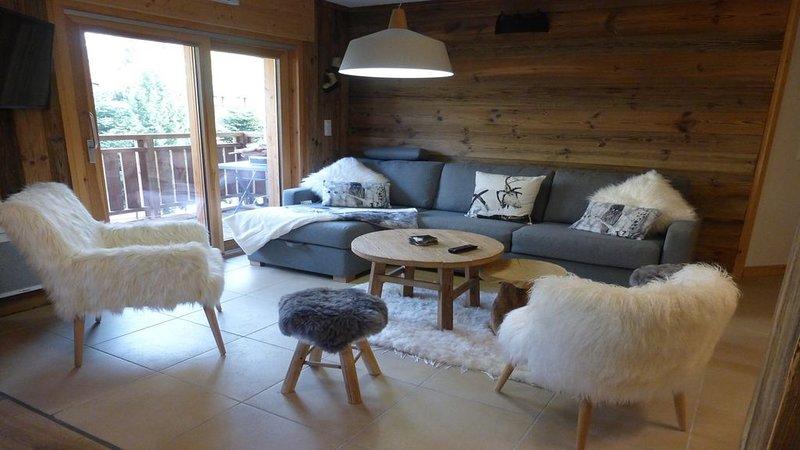 Superbe appartement 12 couchages au pied d'une piste-parking couvert proche ESF, alquiler vacacional en Mont-de-Lans