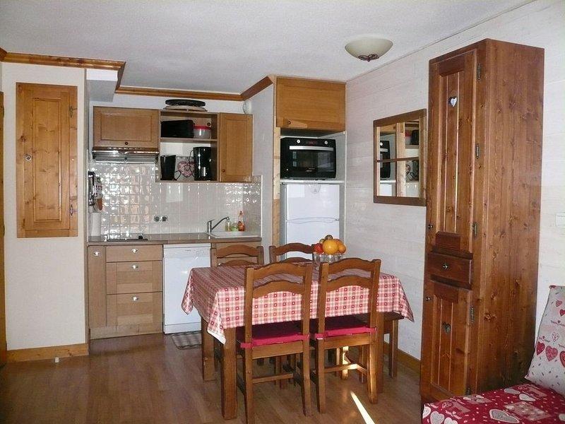 Appartement pied des pistes, 3 * en meublé de tourisme, balcon SUD, Pk. couvert, location de vacances à Valloire