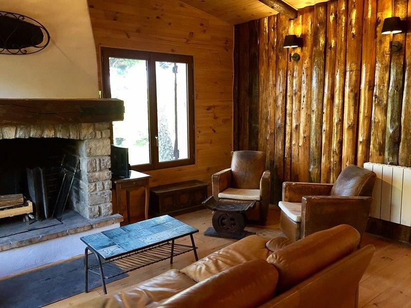 Chalet entièrement rénové avec terrasse et cheminée, accès piscine et tennis, holiday rental in Eygaliers