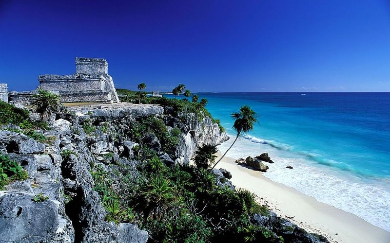 The unique Mayan ruins of Tulum are just 20 minutes from your vacation home.