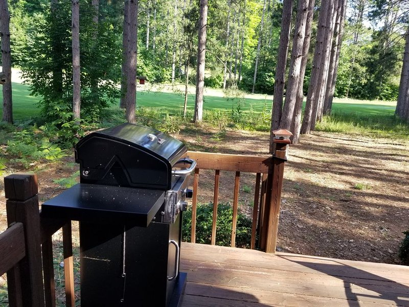Grill on back deck