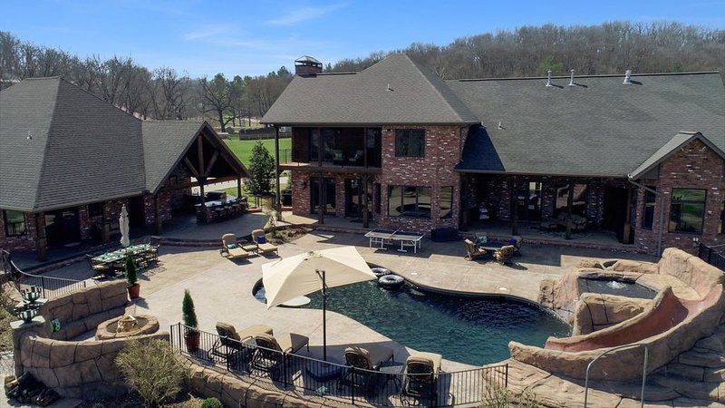 Guest House shares the pool, hot tub, fire-pit, bar & grill with main house
