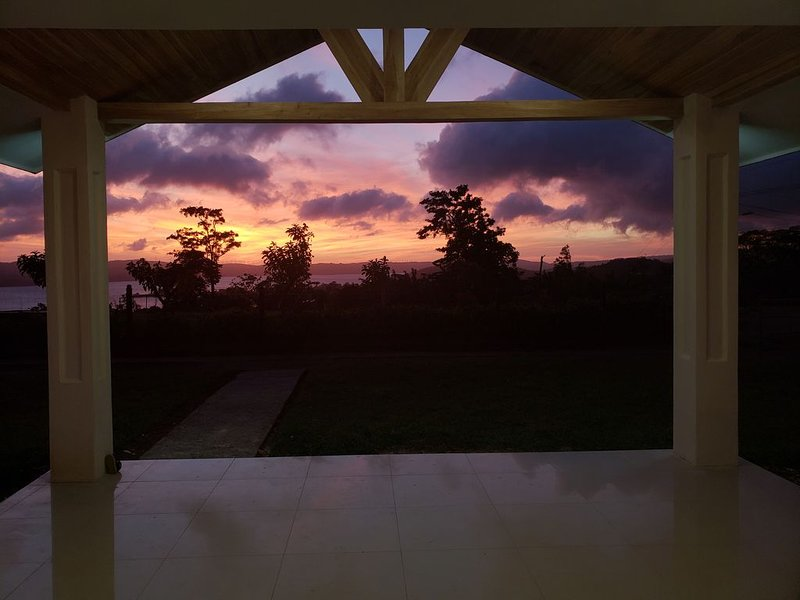 Sunset from the front porch