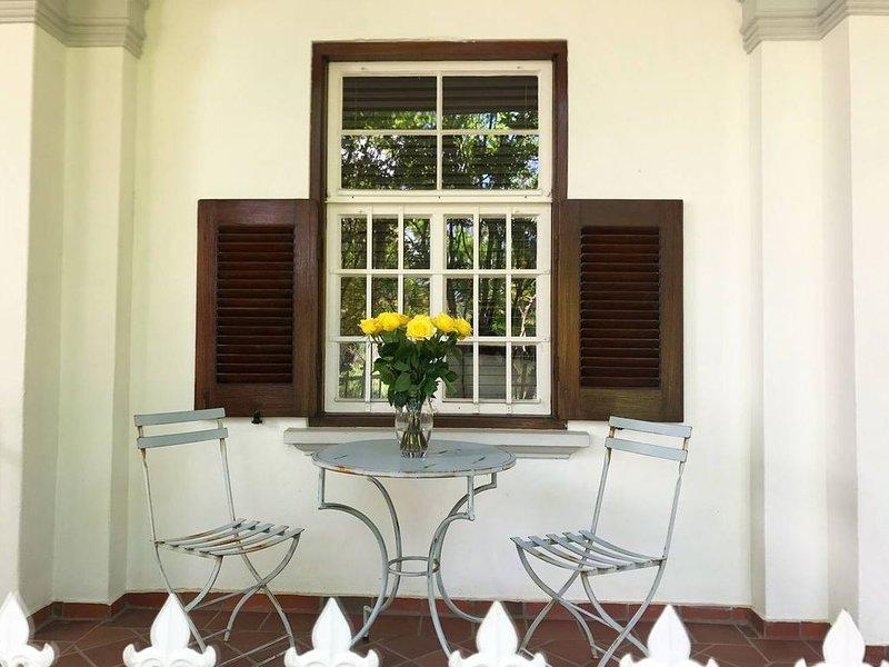 Private veranda overlooking garden