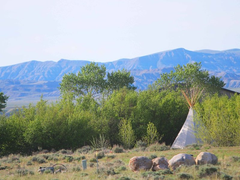 Tipi camping creekside on  a. pristine mountain creek., holiday rental in Clark