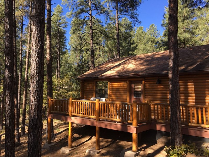 Guest house with deck in the forest just west of Prescott, aluguéis de temporada em Prescott