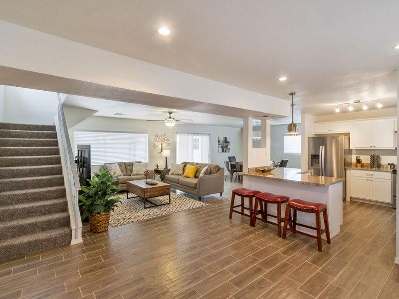 Modern updated open floor plan living space
