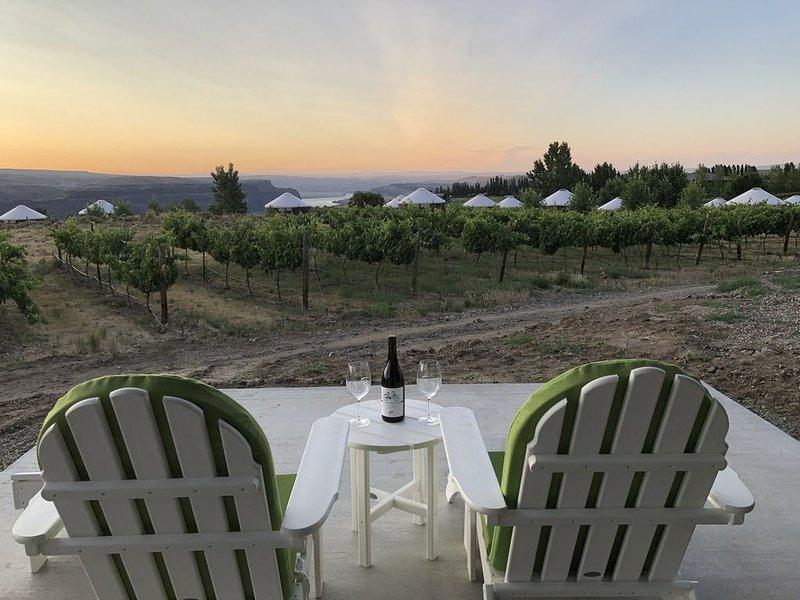 Front row views of Cave B vineyards, Columbia River, walk to Gorge Amphitheatre, location de vacances à Quincy