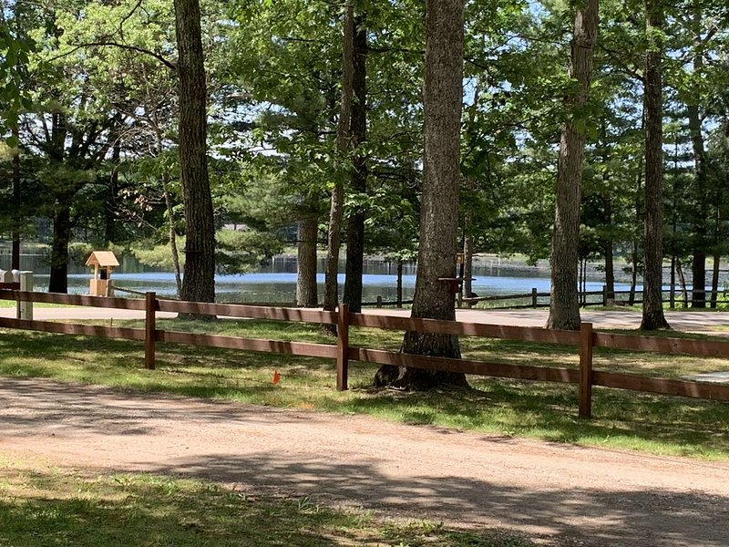 Cozy cottage with beautiful view of Grass Lake & walking distance to Clear Lake, holiday rental in Mio