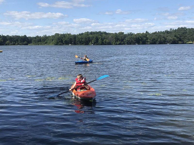 Les kayaks sont disponibles pour utilisation!