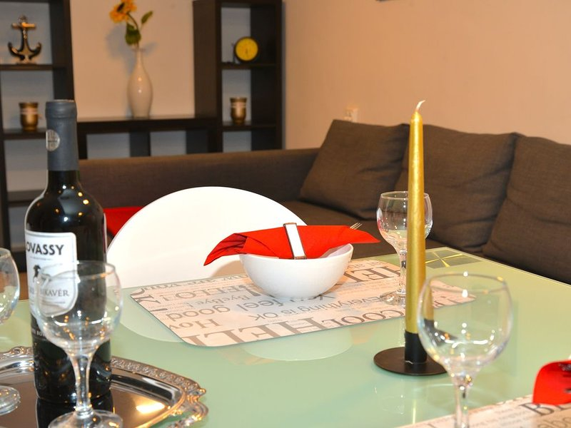 Have a nice dinner in our brand new flat!