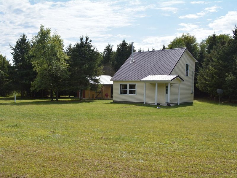 Secluded cabin surrounded by 8 acres of nature, holiday rental in Manistee County