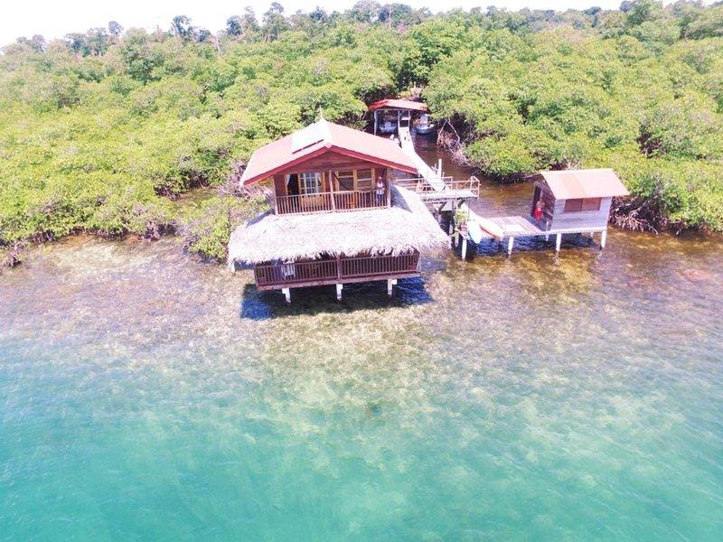 Carribean Blue, Over the Water Casita, alquiler de vacaciones en Isla Bastimentos