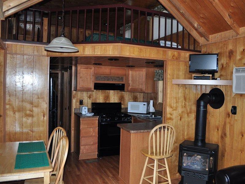 Deluxe Resort Cabin - 1 bedroom plus loft, alquiler de vacaciones en Glenwood Springs