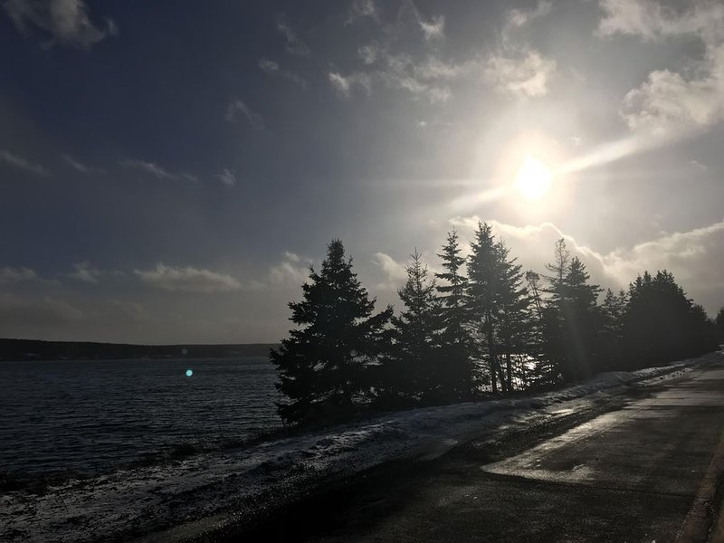 Chilly January view of the Bras d'or