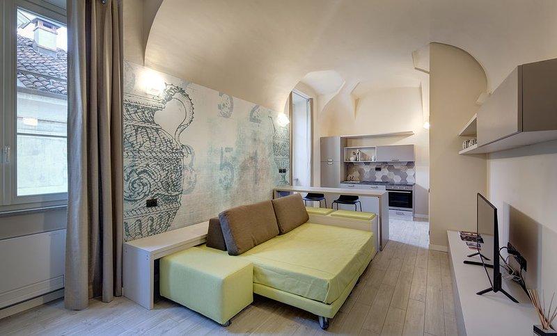QUADRATO-Monolocale B309, holiday rental in Parella