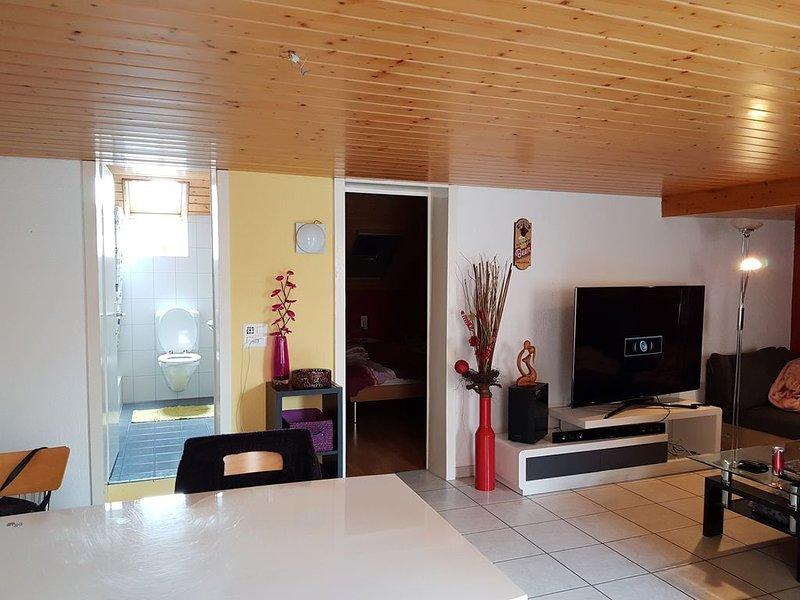 Super gemütliche 2-Zimmer-Wohnung ländlich und doch zentral, vacation rental in Wangenried