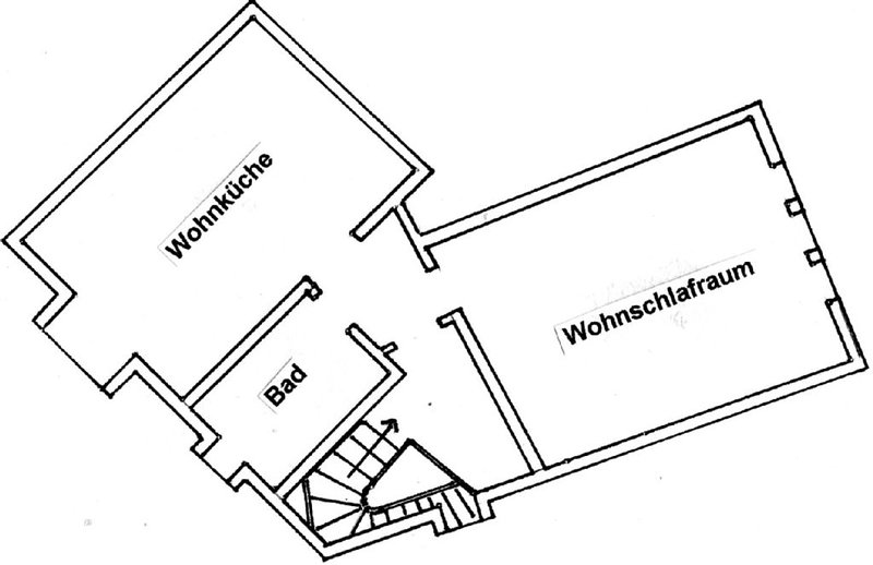Floor plan of the apartment under the roof