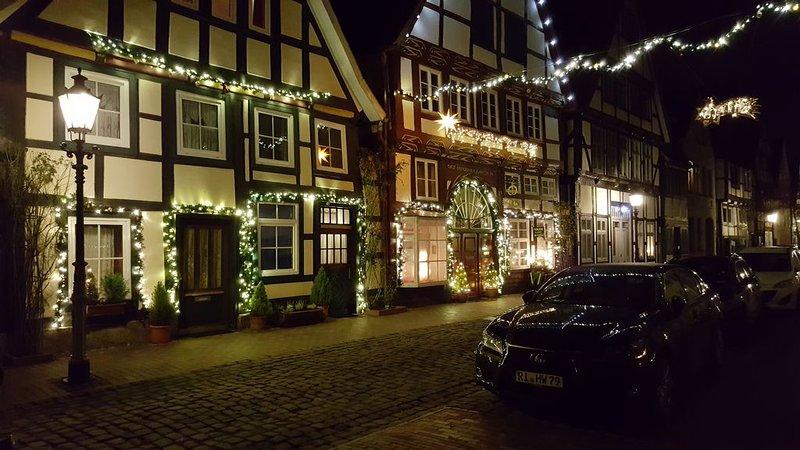 Hist.Fachwerkhaus von 1571,trotz Zentrum ruhiges Wohnen,Tiere erlaubt, holiday rental in Heessen