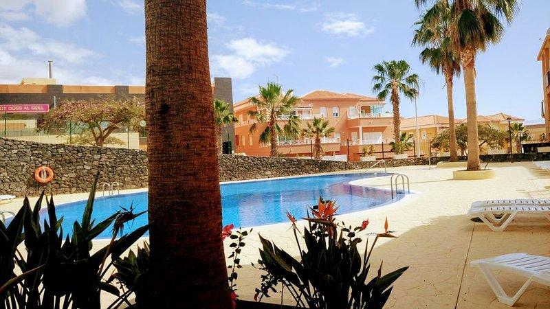 APPARTEMENT SPACIEUX WIFI- jardin + terrasse et jardin de 50M2,  plein sud, alquiler de vacaciones en Adeje