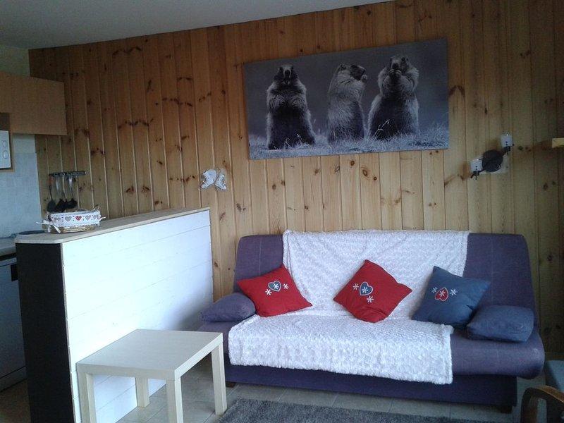 appartement 6 couchages à proximité des pistes vue magnifique sur la vallée, holiday rental in Savines-le-Lac