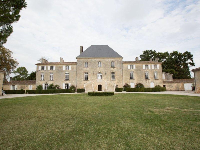 La vie de château au milieu du vignoble chambre bâtonnier, location de vacances à Cubzac-Les-Ponts