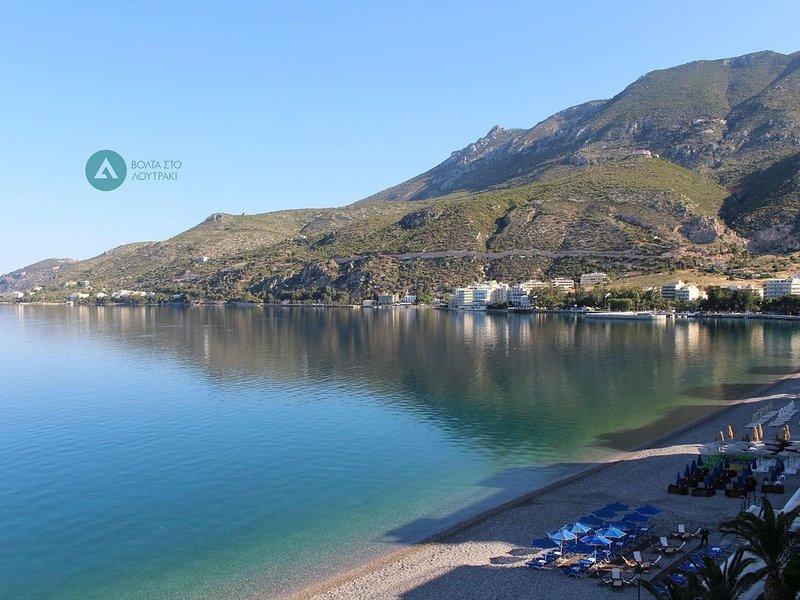 La détente! Appartement à une minute de la plage et douze minutes à pied du SPA, holiday rental in Isthmia