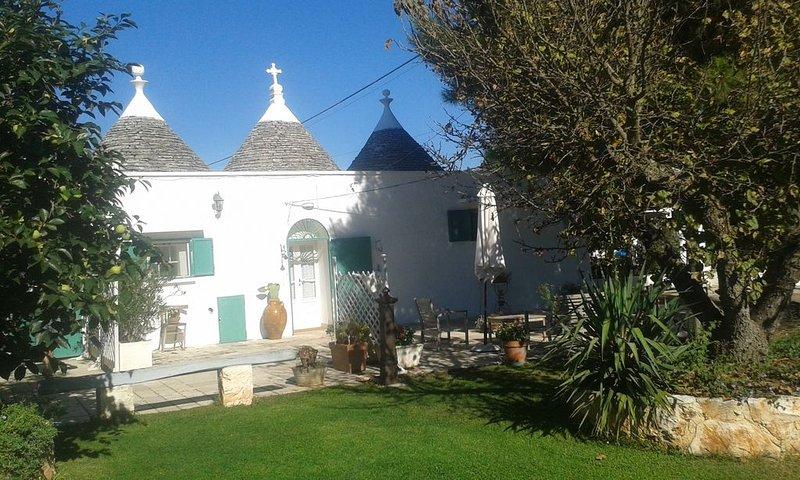 Trulli in Valle d'Itria con piscina e pineta con amache.......una fiaba!, casa vacanza a Martina Franca