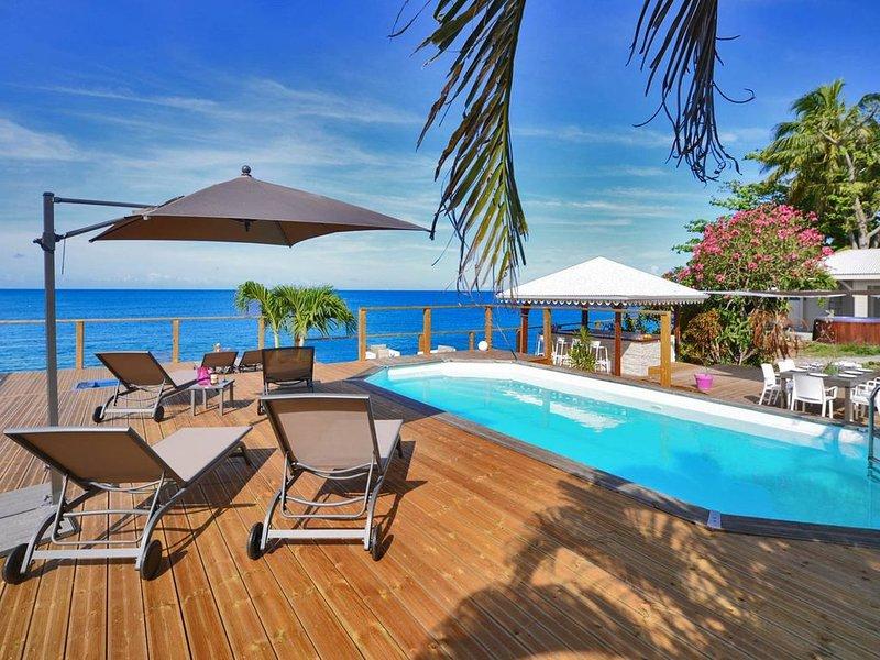 Villa VAIANA Saint Pierre Martinique les pieds dans l'eau piscine vue mer, holiday rental in Le Precheur