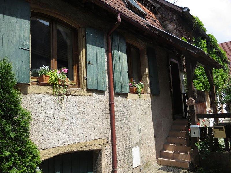 Chouette maison typique avec terrasse privée - 2-5 personnes, aluguéis de temporada em Epfig