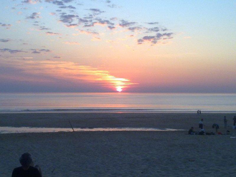The Atlantic ocean at sunset. glassy sessionsurf ..