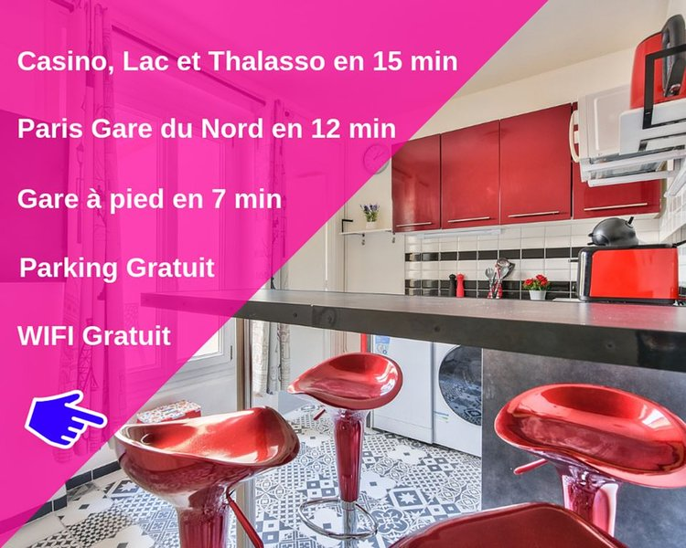 Paris Gare du Nord - Stade de France - Casino, Lac & Thalasso 12min, vacation rental in Stains