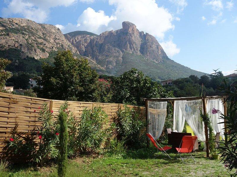 Rez-de-villa 55m² tout confort au pied du Mont Gozzi à Piscia Rossa (Appietto), location de vacances à Valle-di-Mezzana