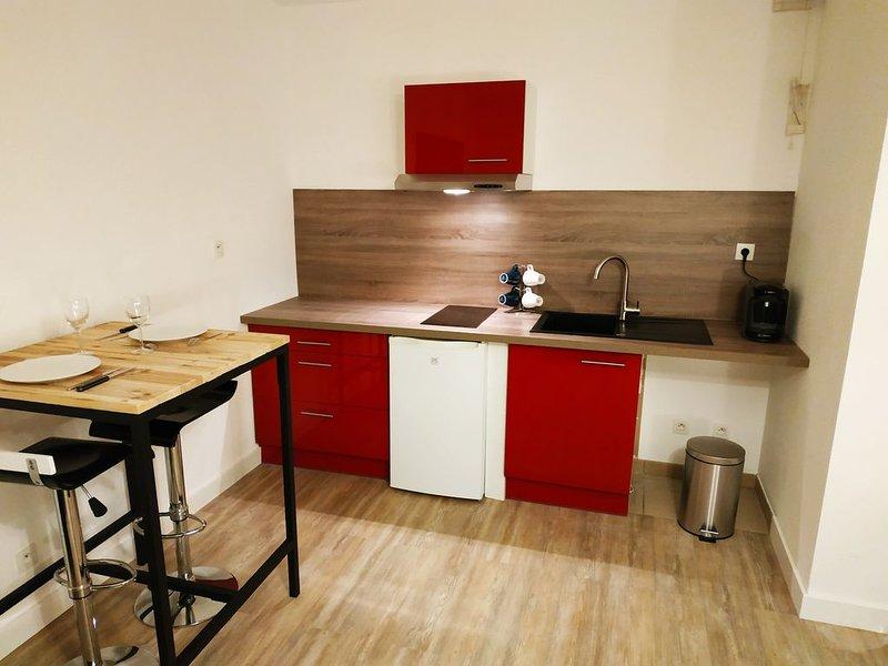Superbe Studio neuf proche de la gare avec parking privatif souterrain, holiday rental in Trepot