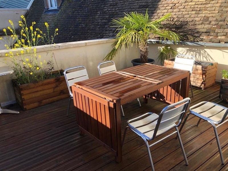 La maison Millot, maison 2 chambres avec terrasse privée au coeur de beaune, vacation rental in Levernois