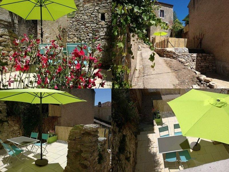 Gite 3 étoiles avec terrasse - Cœur de village au calme - Cité médiévale - Lot, holiday rental in Albas