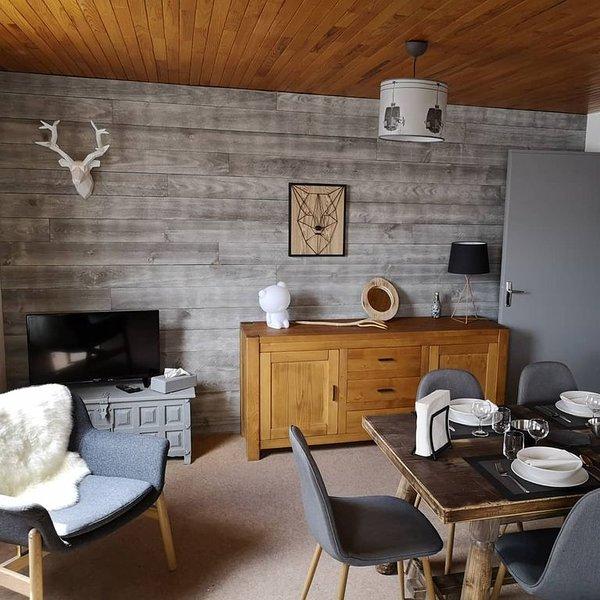 Appartement de 58 m2 chaleureux aux pieds des pistes avec vue dégagée plein sud, holiday rental in Vars