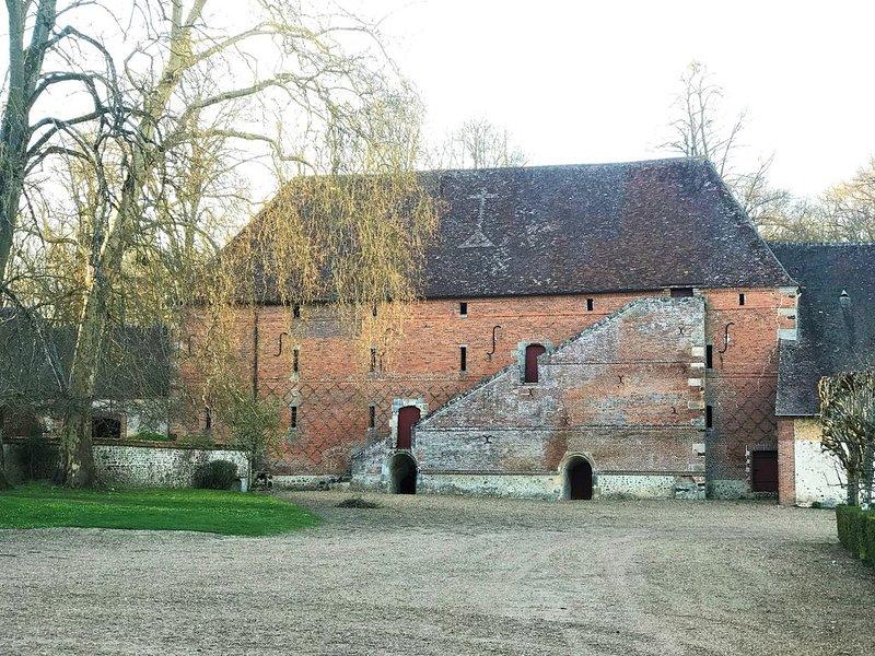 Ferme médiévale le magasin de grain