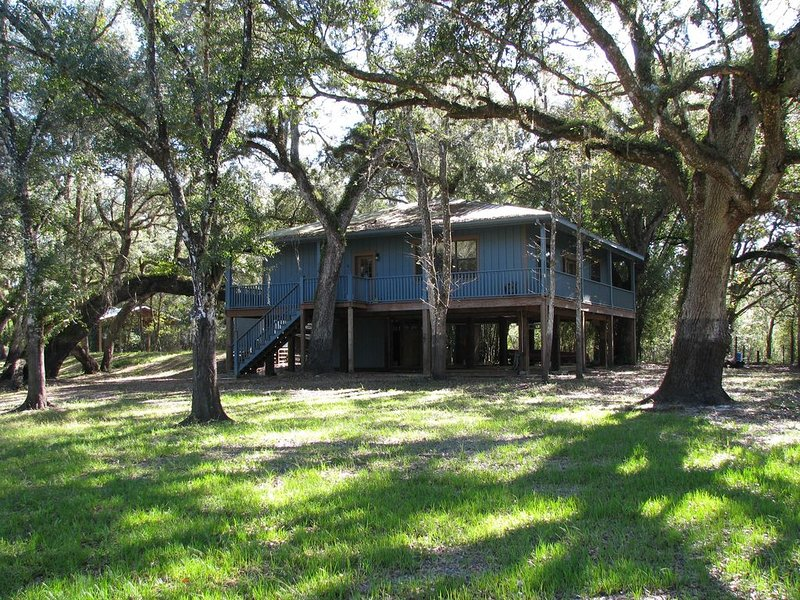 Secluded Riverhouse for Adventures & Relaxation in Nature between Tampa/Orlando, holiday rental in Webster