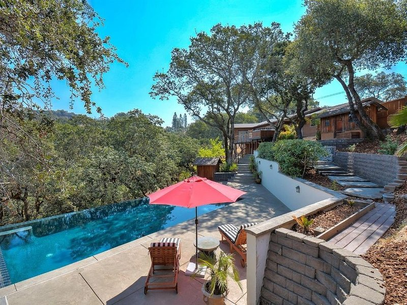 Luxury Retreat with Heated Infinity Pool, Hot Tub, High-Speed Internet, casa vacanza a Santa Rosa