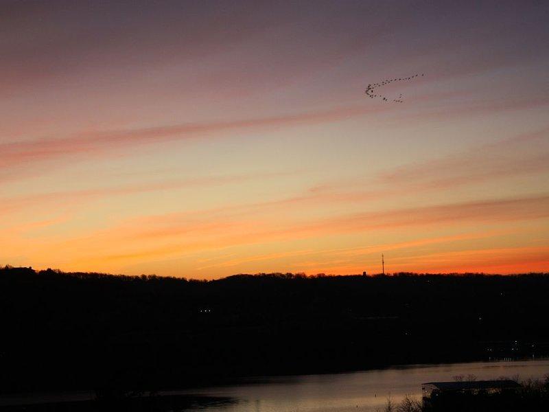 lever du soleil sur le pont
