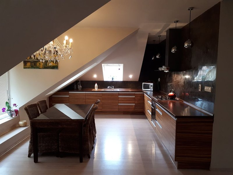 Attic with terrace just a few steps from center (15), holiday rental in Bratislava