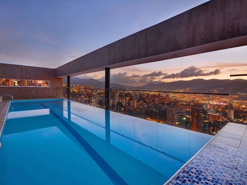 Pool at Building, on top floor