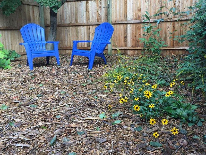 Zone de jardin pour profiter du café du matin