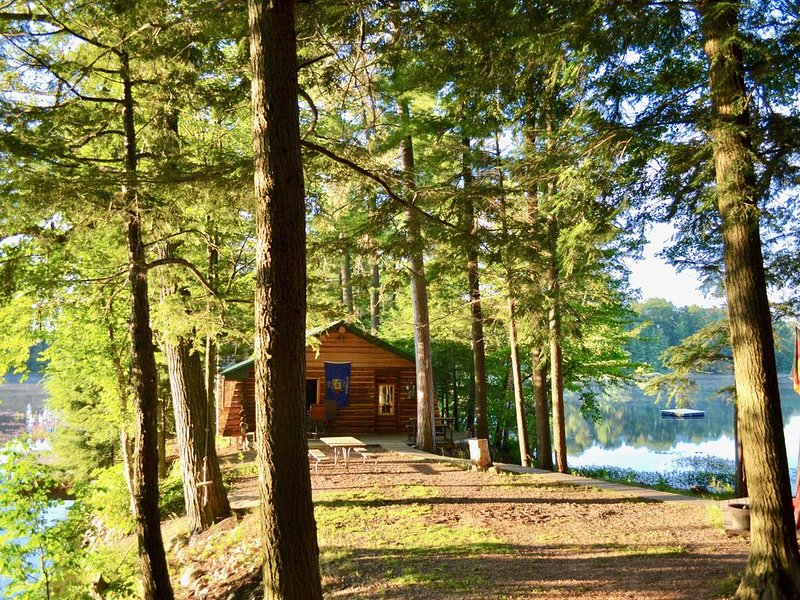 LAKE CABIN - TIMELESS BEAUTY Nestled 15' Feet Away from Water On 150' Peninsula, vacation rental in Summit Lake