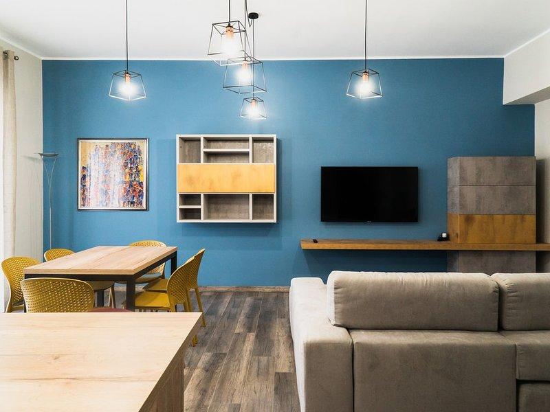 Coin salon - espace ouvert - Téléviseur à écran plat 52 ''